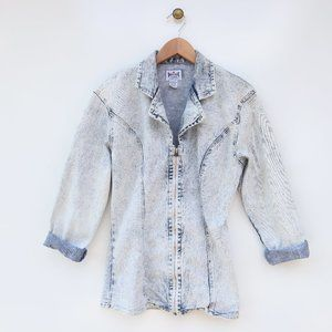 Vintage Dakota Blue Jeans Denim Acid Wash Jacket